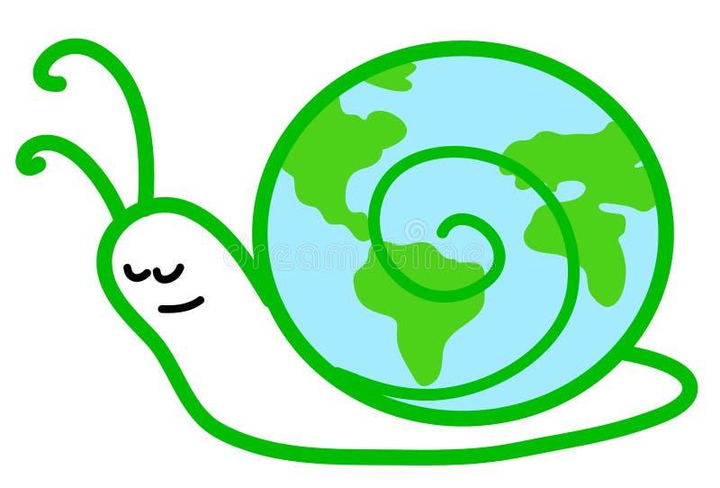 Download Slow slug-earth stock vector. Image of nature, economy - 6645447