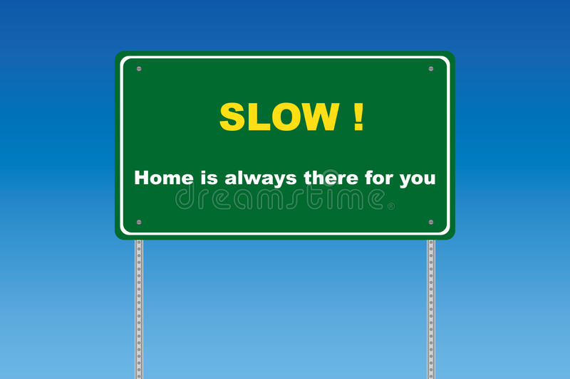 Download Slow traffic sign stock vector. Image of violation, travel - 14850526