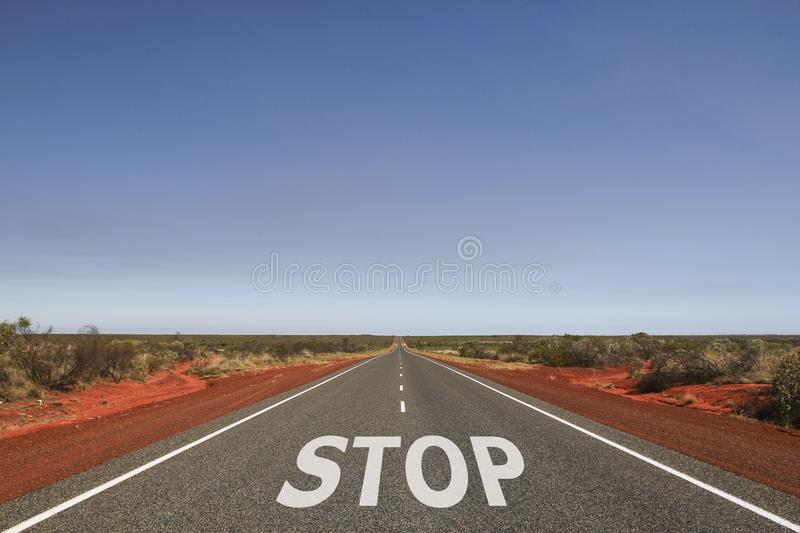 Slow written on the road royalty free stock photography