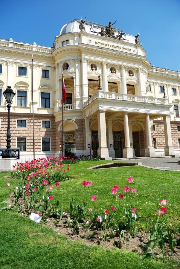 Slowaaks Nationaal Theater royalty-vrije stock afbeeldingen