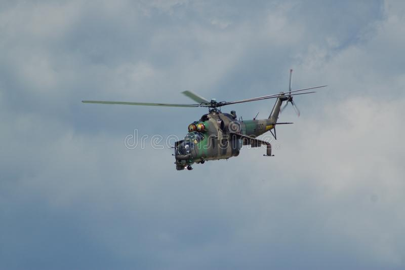 Slowaakse ACHTERSTE mil-Mi 24 stock foto's