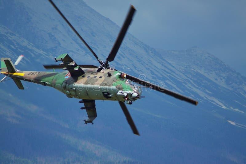 Slowaakse ACHTERSTE mil-Mi 24 royalty-vrije stock fotografie