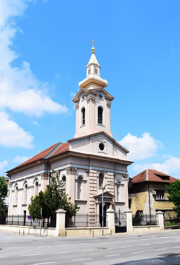 Slowaakse Evangelische kerk in Novi Sad royalty-vrije stock afbeeldingen