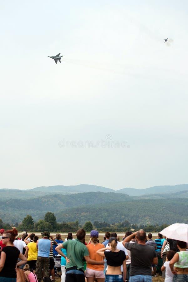 Slowaakse Internationale Lucht Fest 2012, Slowakije stock afbeelding