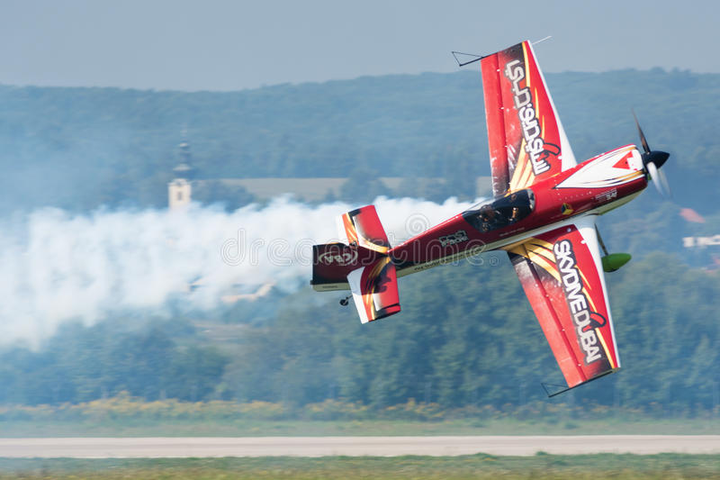 Slowaakse Internationale Lucht Fest 2015, Sliac, Slowakije stock afbeelding