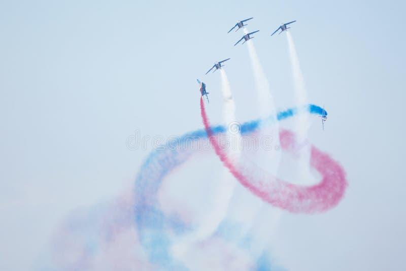Slowaakse Internationale Lucht Fest 2015, Sliac, Slowakije stock fotografie