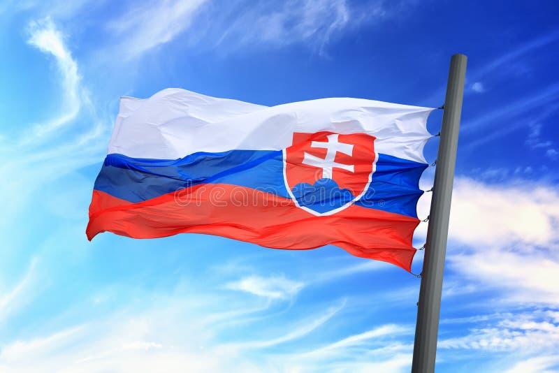 Slowaakse vlag stock fotografie