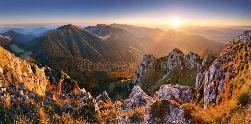 Slowakei-Bergspitze Rozsutec stockbilder