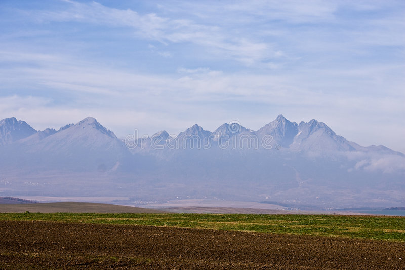 Slowakei-hoher Mountain View stockbilder