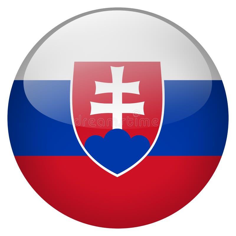 Slowakei-Knopf lizenzfreie abbildung