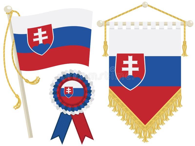 Slowakei-Markierungsfahnen stock abbildung