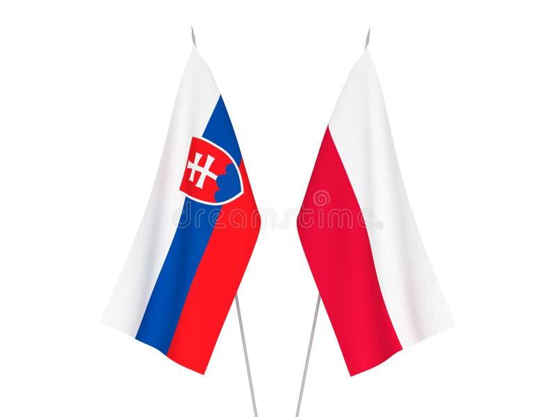 Slowakei- und Polen-Flaggen stock abbildung