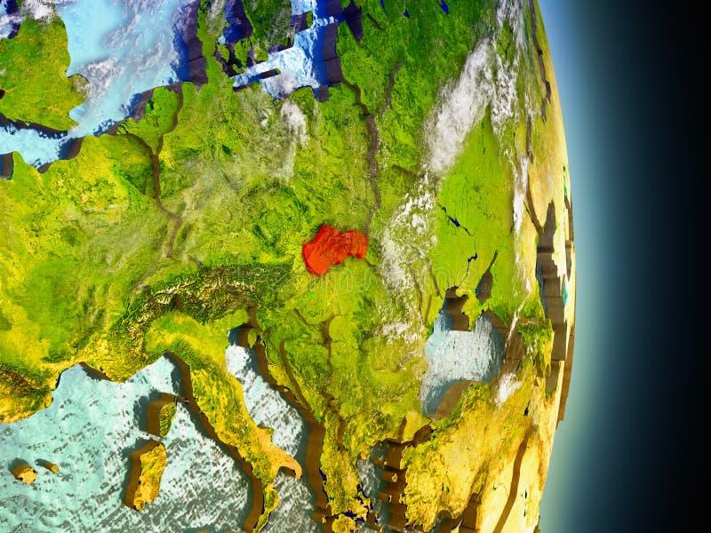 Slowakije in rood van ruimte royalty-vrije illustratie