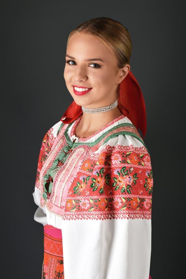 Slowakische Folklore Kleidet Traditionelles Stockfoto