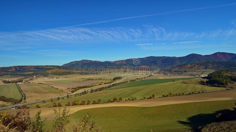 Slowakische Landschaft in der Presov-Region lizenzfreie stockbilder