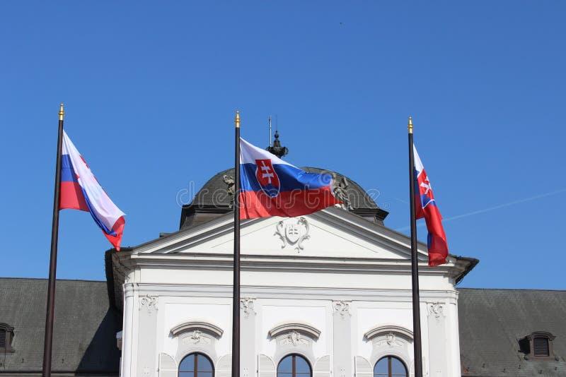 Slowakische Markierungsfahne lizenzfreies stockbild