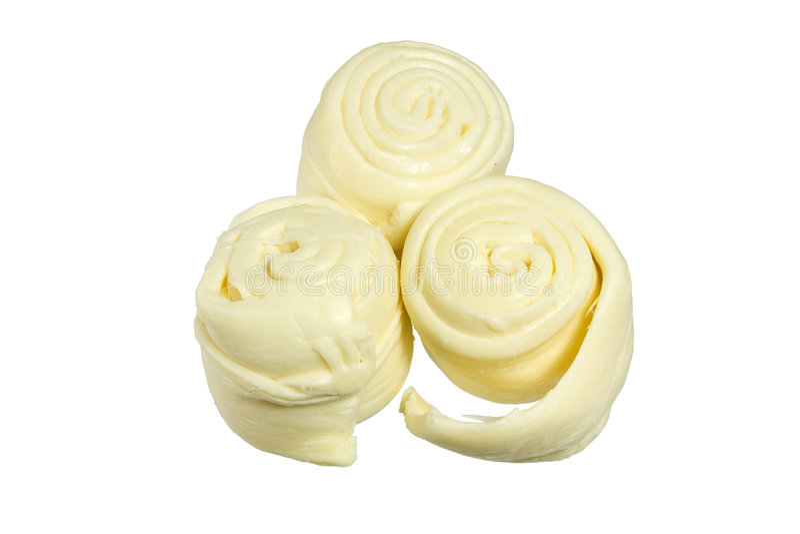 Slowakischer Schafmilch-Käse Parenica - getrennt lizenzfreies stockfoto