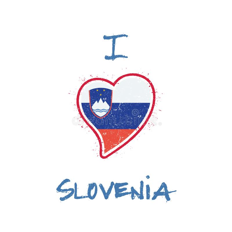 Slowen koszulki chorągwiany patriotyczny projekt royalty ilustracja