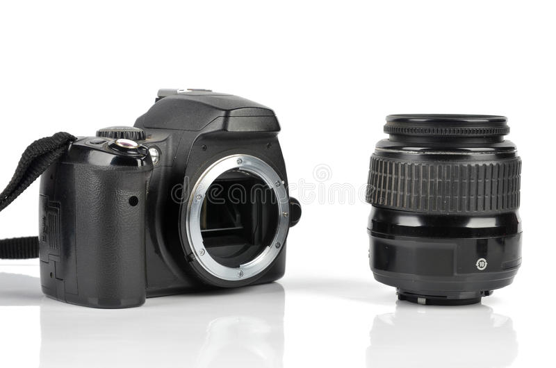 Download Slr body and lens stock image. Image of lens, camera - 23680389