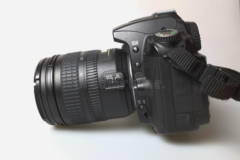 SLR camera. Black Nikon D90 Digital SLR Camera royalty free stock photos
