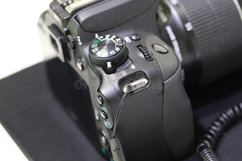 SLR cameras. Photography period of SLR cameras royalty free stock images