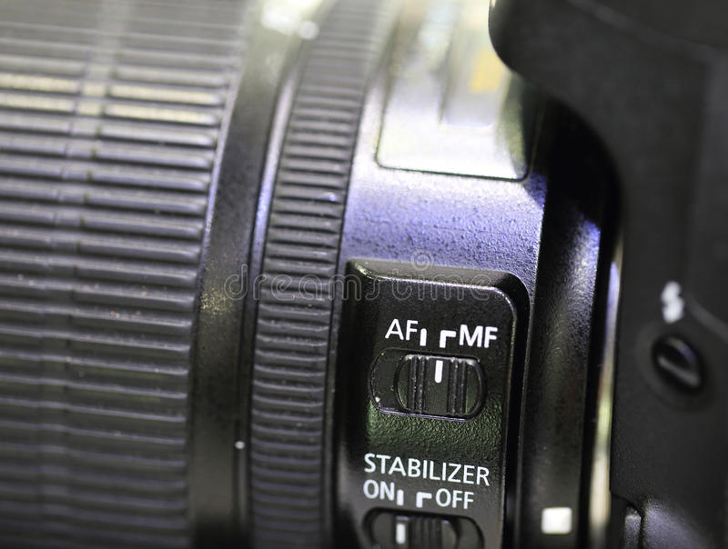 SLR cameras. Photography period of SLR cameras royalty free stock photo