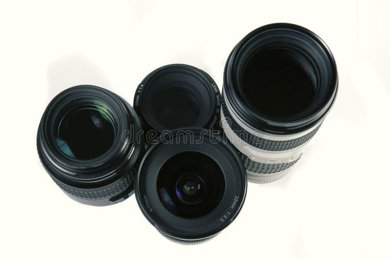 SLR Objektive stockbild