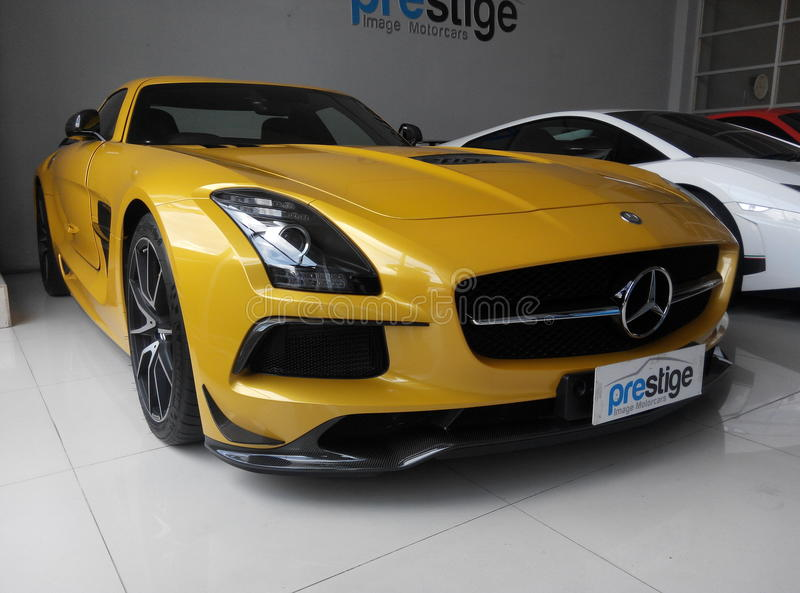 SLS AMG Black Series royalty free stock photos