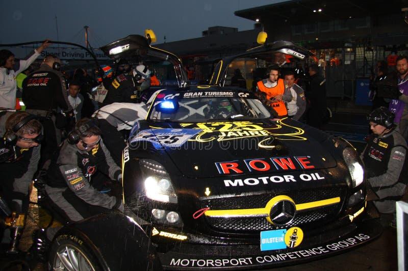 Sls en carril del hoyo, Nuerburgring 2013 imágenes de archivo libres de regalías