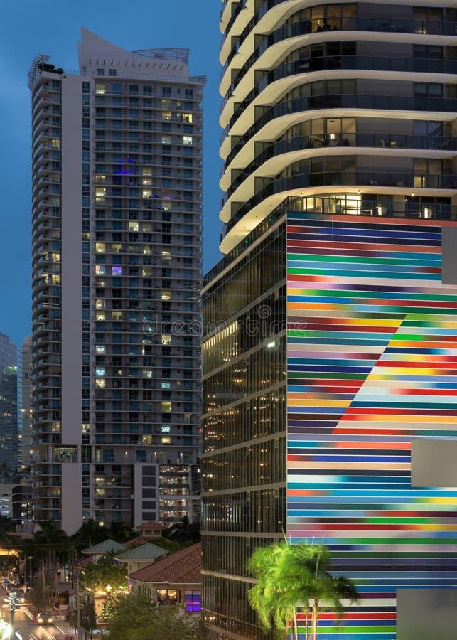 SLS LUX Brickell Condos de Miami imágenes de archivo libres de regalías