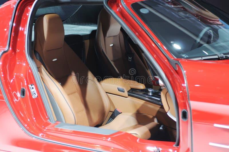sls mercedes автомобиля benz amg нутряные стоковое фото rf