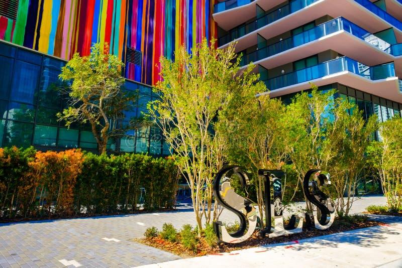 SLS Miami Brickell Architecture stock images