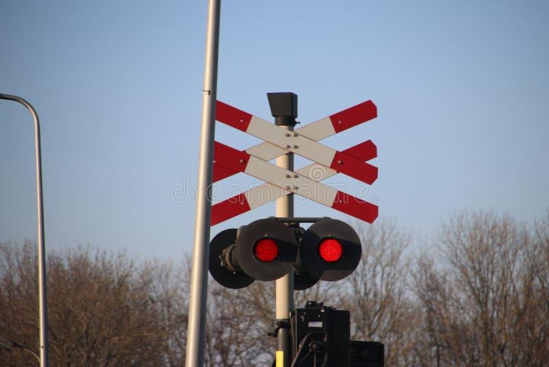 SLT local commuter train at a railroad crossway at nieuwerkerk aan den IJssel in the Netherlands stock images