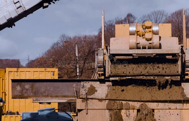 Sludge cleaner. Equipment for cleaning the drilling tool stock photography