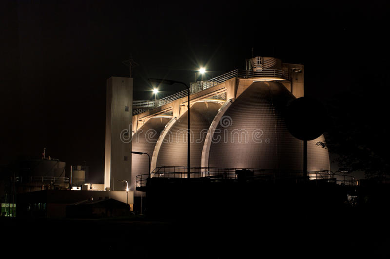 Download Sludge Digestion Tanks Royalty Free Stock Photography - Image: 22328117