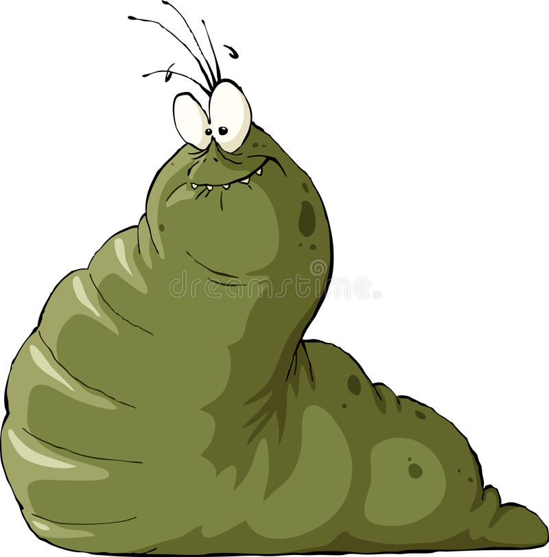 Slug. On a white background, vector vector illustration