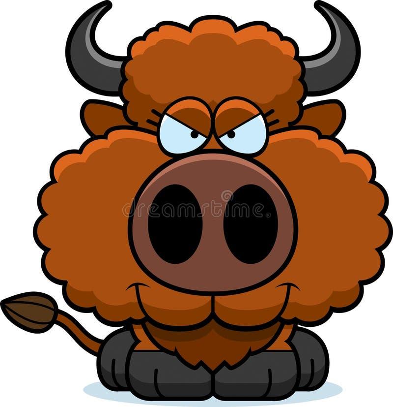 Slug buffel för tecknad film royaltyfri illustrationer