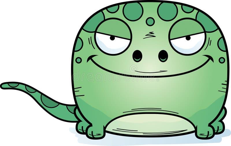 Slug gecko för tecknad film royaltyfri illustrationer