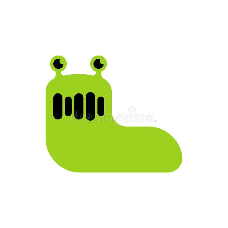 Slug green isolated. Insect cartoon vector illustration.  royalty free illustration