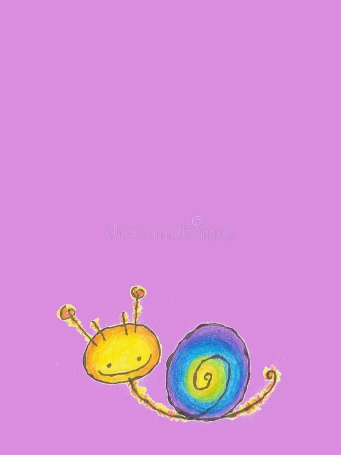 Slug. Nice slug on the violet background vector illustration