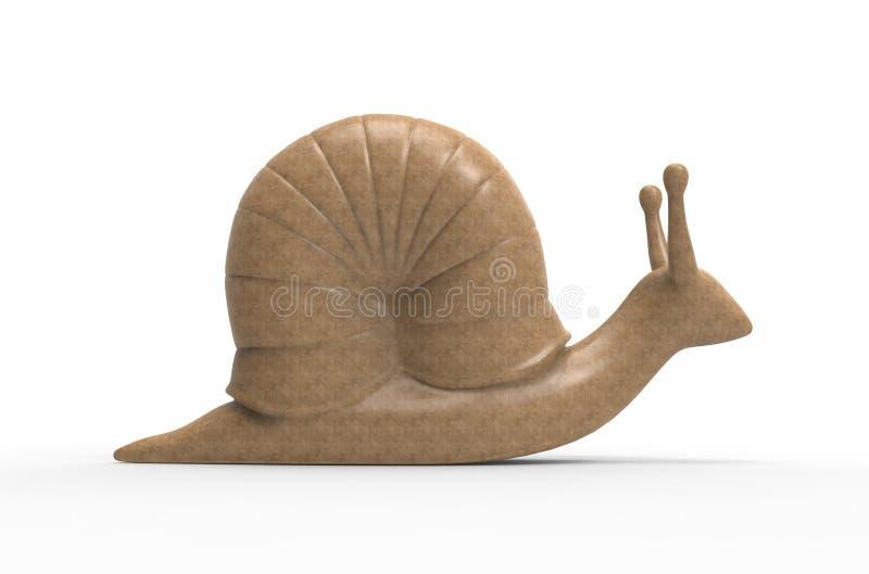 Slug. Yellow slug on a white background royalty free illustration