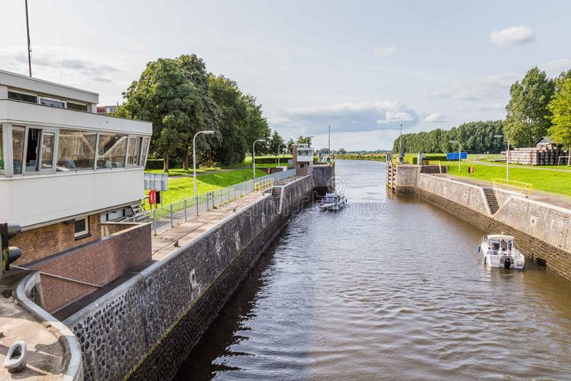 Sluice Engelen in Engelen, the Netherlands royalty free stock photography