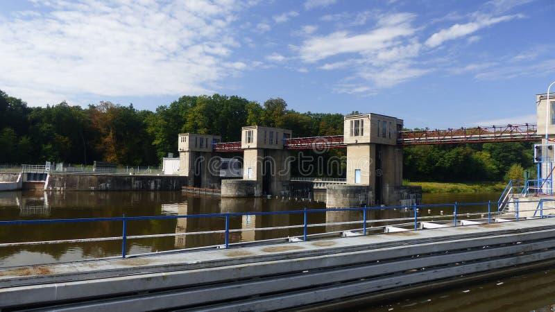 Sluice. On river Labe - CPL stock photos