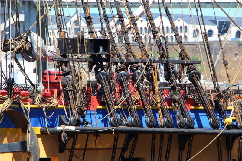 Sluiers van een fregat royalty-vrije stock fotografie