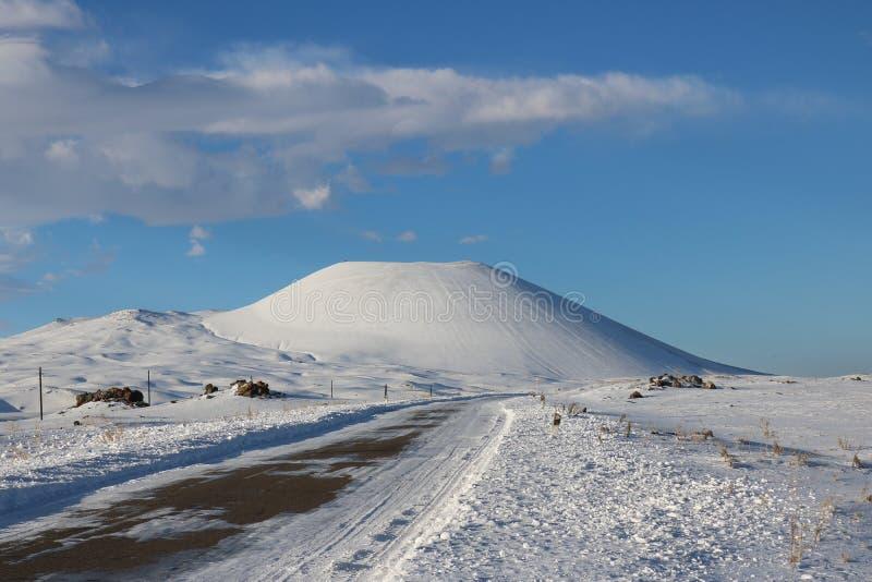Sluimerende vulkaan stock fotografie