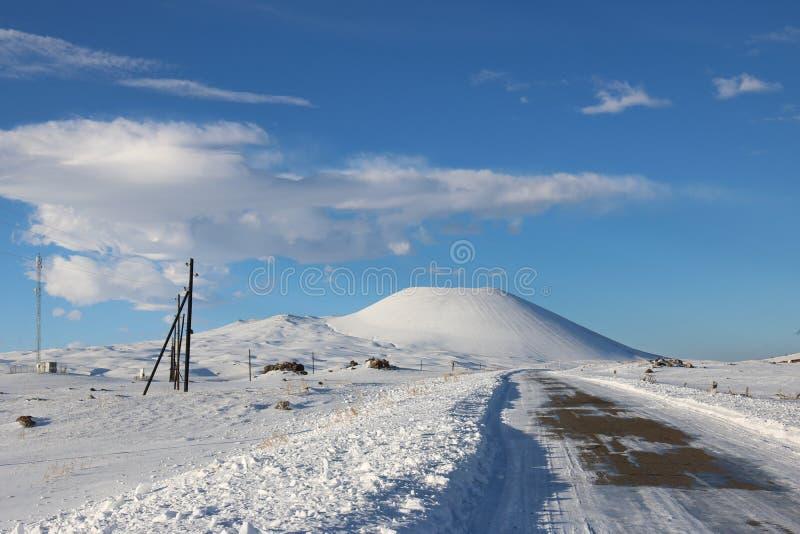 Sluimerende vulkaan stock afbeelding
