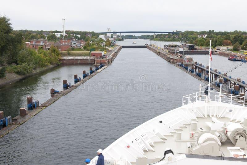Sluisdeur Kiel stock fotografie