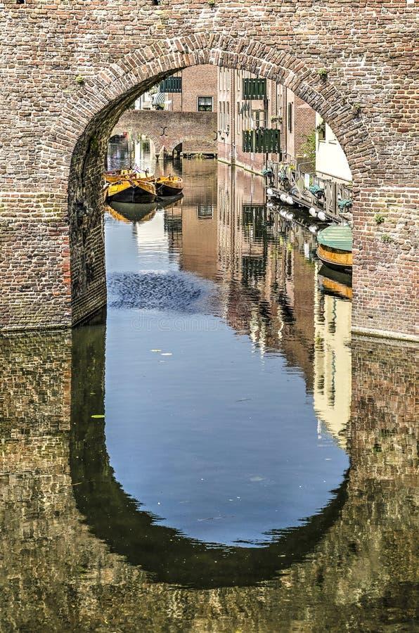 Sluisdeur in Zutphen, Nederland royalty-vrije stock foto