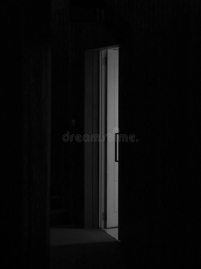 Sluit de deur stock fotografie