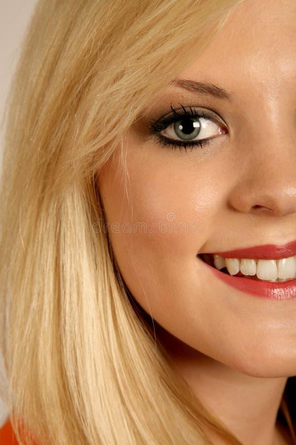 Sluit Glimlach royalty-vrije stock fotografie